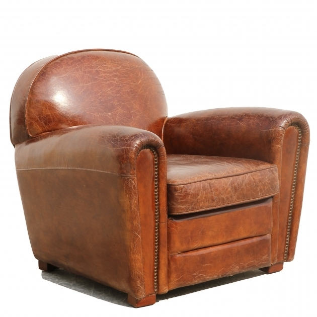 Pasargad Genuine Paris Distressed Leather Club Chair Picture 43