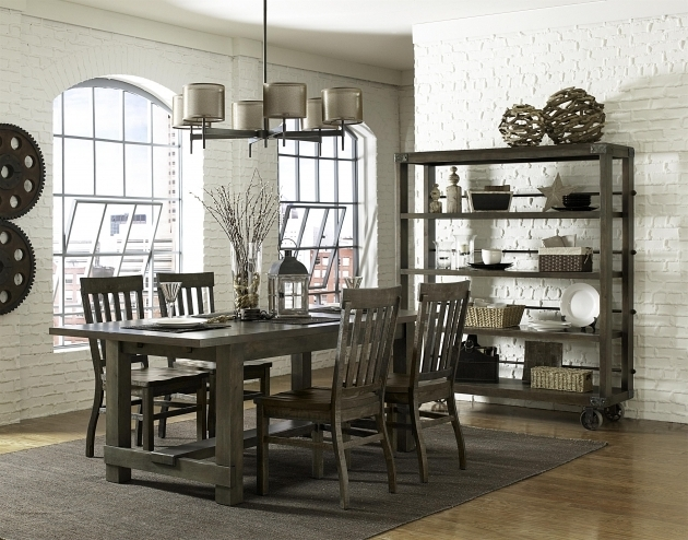 Rectangular Gray Kitchen Table And Chairs Magnussen Home Wolf And Gardiner Image 60