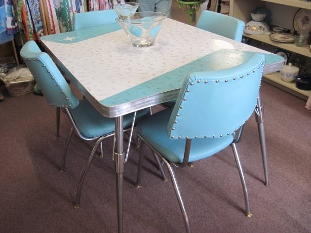 Vintage And New Chrome Turquoise Kitchen Chairs And Kitchen Tables Picture 51