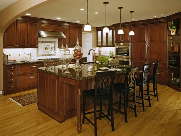 Wooden High Chairs For Kitchen Island With Modern Kitchen