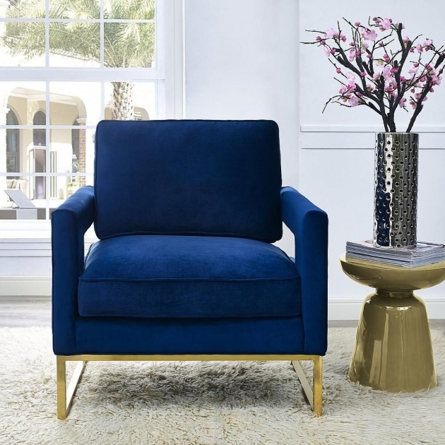 ... Avery Velvet Navy Club Chair Tov Images 82 ...