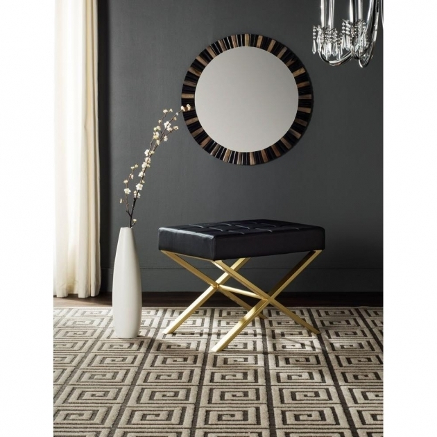Black Narrow Accent Chair Maze Blackwhite Image sho76