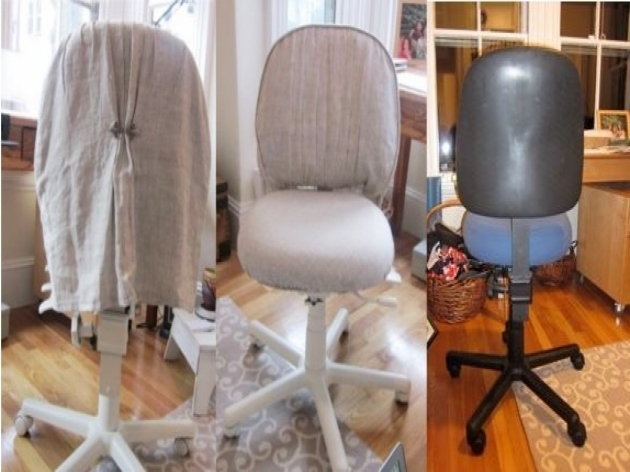 Cottage Office Chair Slipcover Photos 59