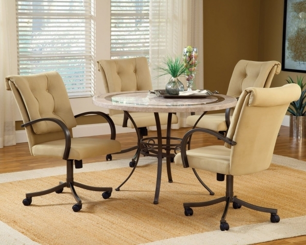 Dining Room Chairs With Casters And Modern Kitchen Chairs With Rollers Image 24