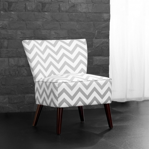 Dorel Living Chevron Gray And White Accent Chairs Image 02