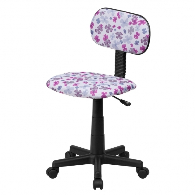 Girls Office Chair Purple And White Floral Swivel Desk Chairs Pictures 89