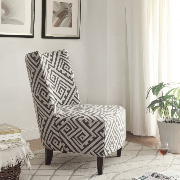 Gray And White Accent Chairs High Back Pictures 02