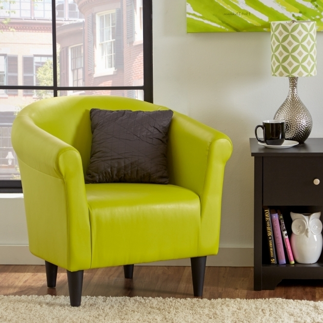 Green Calm Accent Chairs Then Faux Lear Barrel Chair Modern Small Leather Club Chair Pictures 45