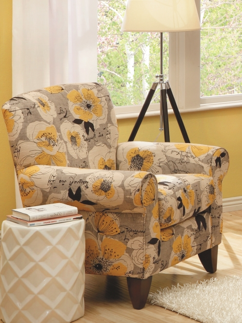 Narrow Accent Chair Yellow Flower Feature Cover  Image sho65