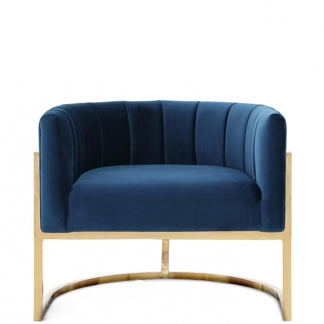 Navy Club Chair Sydney Petite Velvet Picture 00