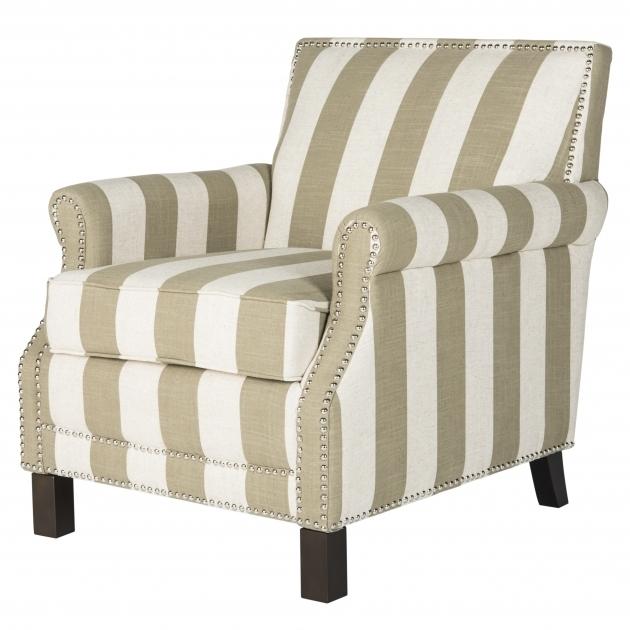 Randall Savannah Club Chair Fabric Classic Stripe Motif Picture 51