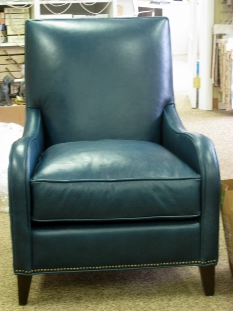 Retro Blue Accent Chair With Arms Photo 73