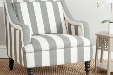 Gray and White Accent Chairs