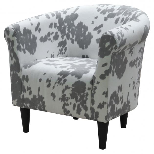 Savannah Club Chair Fox Hill Cowhide Silver Accent Chairs Picture 76