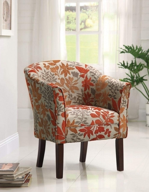 Florino Artistic Script Barrel Small Accent Chairs With Arms Pictures 23 Ch