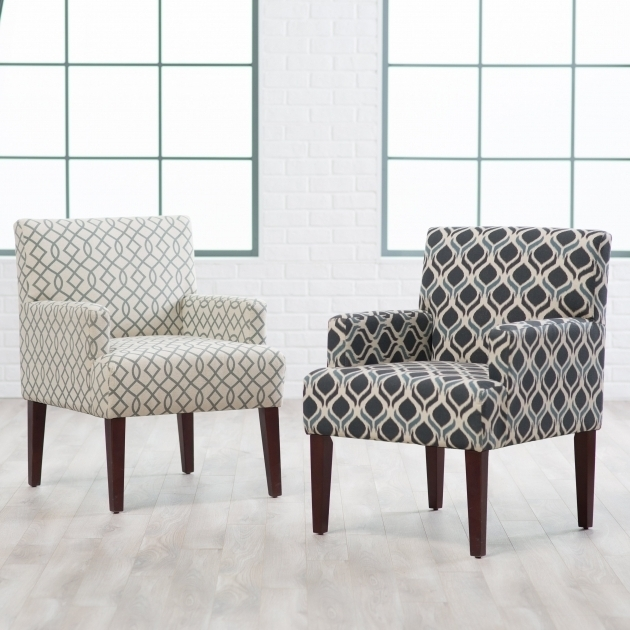 Grey Small Accent Chairs With Arms And Ottoman By Ashley
