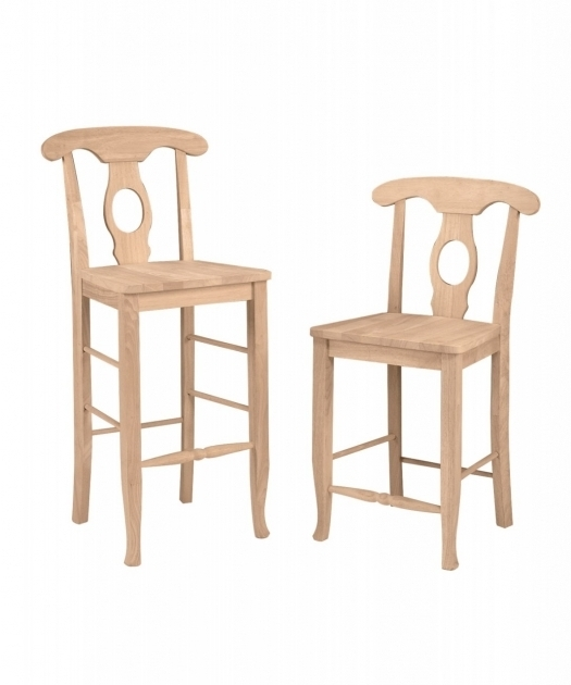 Unfinished Kitchen Chairs Empire Counter Stool Wood Seat Built Wws1222b Photo 41