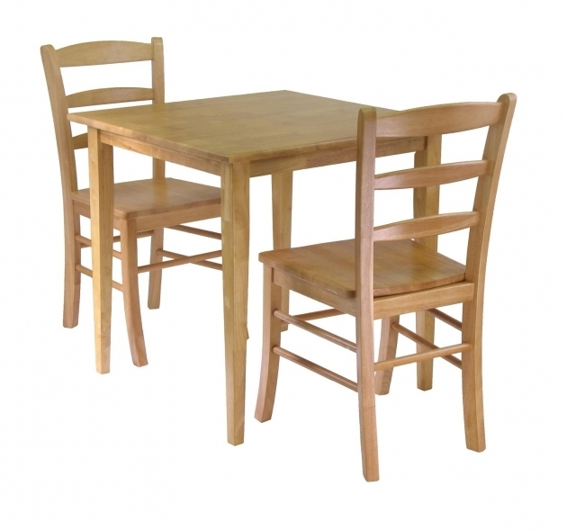Unfinished Kitchen Chairs Winsome Groveland 3pc Dining Set Square Table Ideas Picture 70