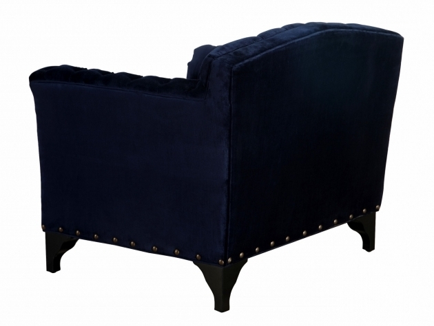 Waterford Velvet Navy Club Chair By Tov Furniture Photo 18