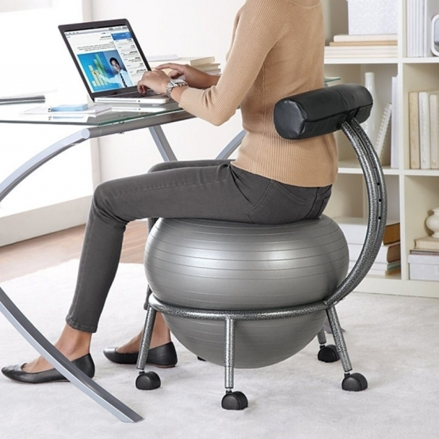 Balance Ball Office Chair Exercise Ball For Work Home Design Ideas Image 84