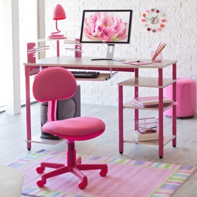 Cute Office Chairs Desk Design With Pink Of The Room Computer Desk Images 09