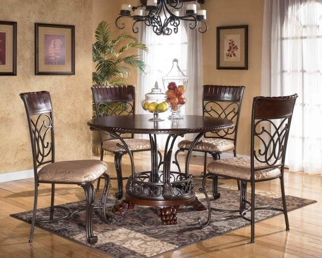Dark Black Wrought Iron Kitchen Chairs Image 32