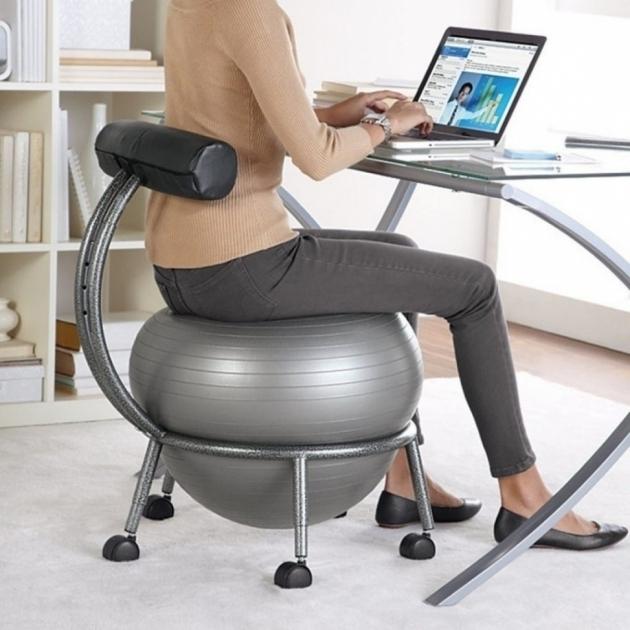 Elegant Stability Balance Ball Office Chair Photo 10