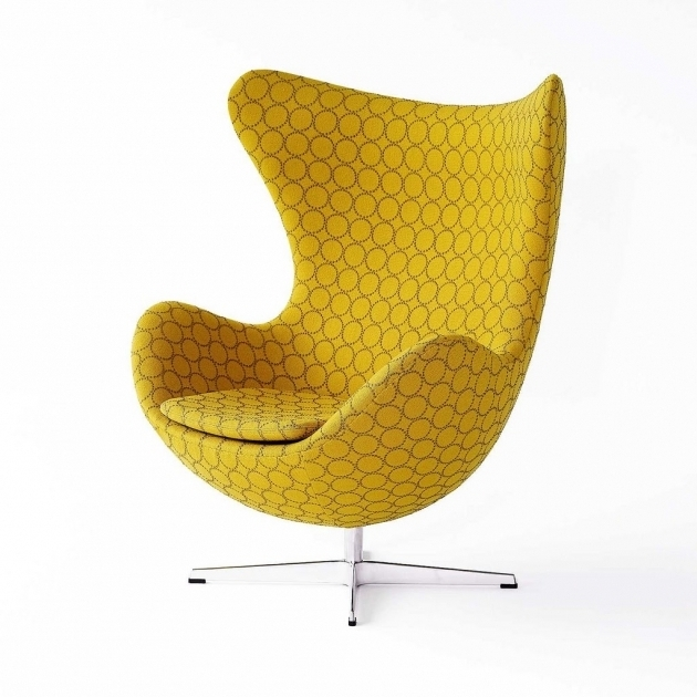 Grey And Yellow Accent Chair Furniture Arne Jacobsen Egg Chair Fritz Hansen Picture 34
