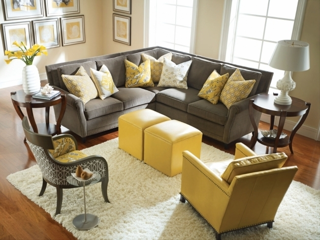 Grey And Yellow Accent Chair Living Rooms Photos 80