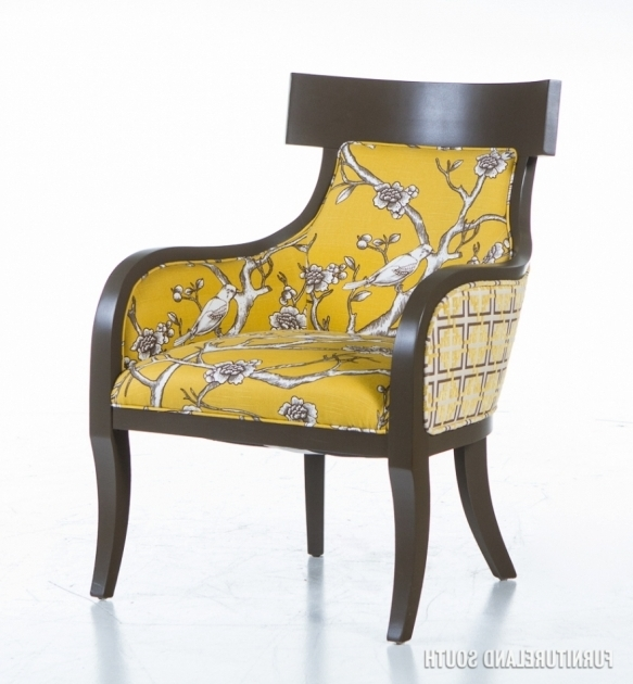 Lad Velvet Fabric Yellow And Grey Accent Chair Pictures 08