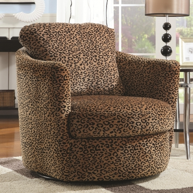 Upholstered Patterned Club Chair Swivel Chairs For Living Room Images 50