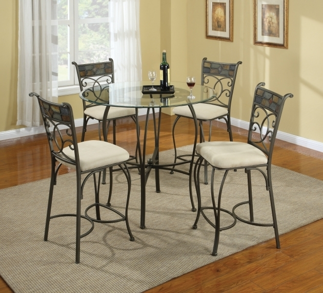 Wrought Iron Kitchen Chairs And Glass Table With Sisal Rug  Picture 86