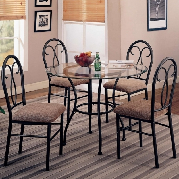 Wrought Iron Kitchen Chairs Design With Small Round Glass Dining Table Images 59
