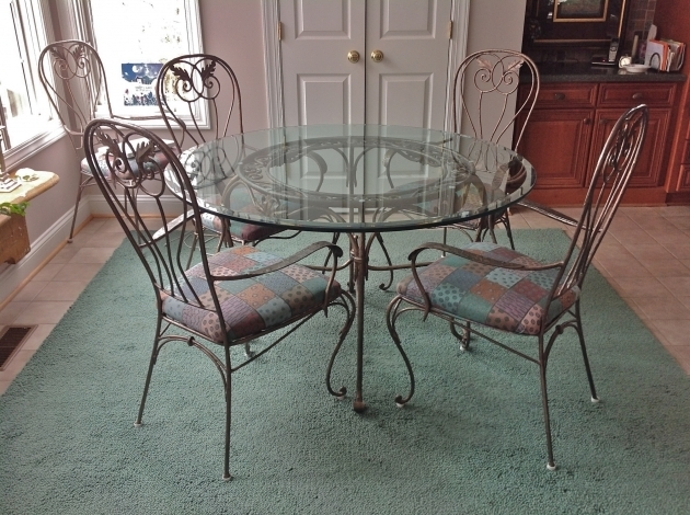 Wrought Iron Kitchen Chairs Chic Small Dining Room Design With ...