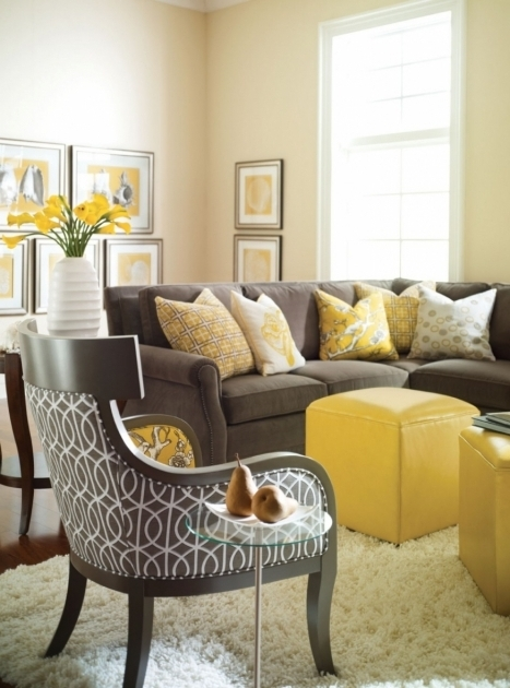 Yellow And Grey Accent Chair Living Rooms Pictures 78