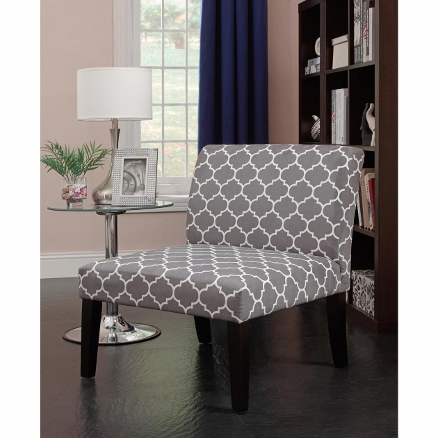Yellow And Grey Accent Chair With White Pattern Photos 59