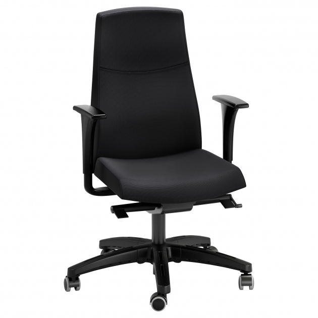 Volmar Office Swivel Chair With Armrests Black Ikea Photos 78