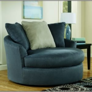 Round Swivel Cuddle Chair