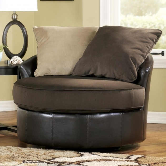 Modern Home Interior Round Swivel Cuddle Chair Pic 14