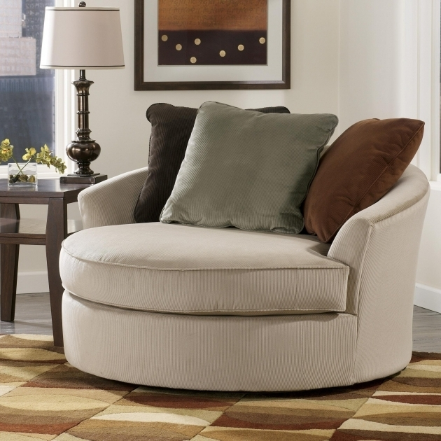 Oversized Round Swivel Cuddle Chair Living Room And Pictures 07