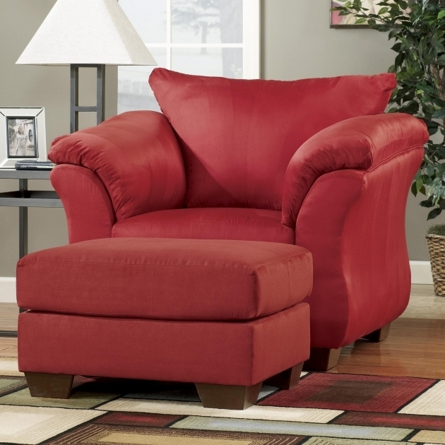 Darcy Salsa Upholstered Chair And Ottoman Ashley Red Chairs Signature Design Pics 55