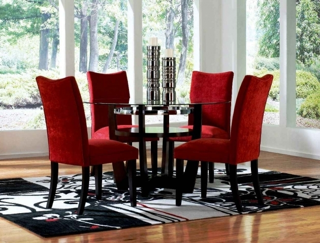 Dining Room Ashley Red Chairs Design Photos 34