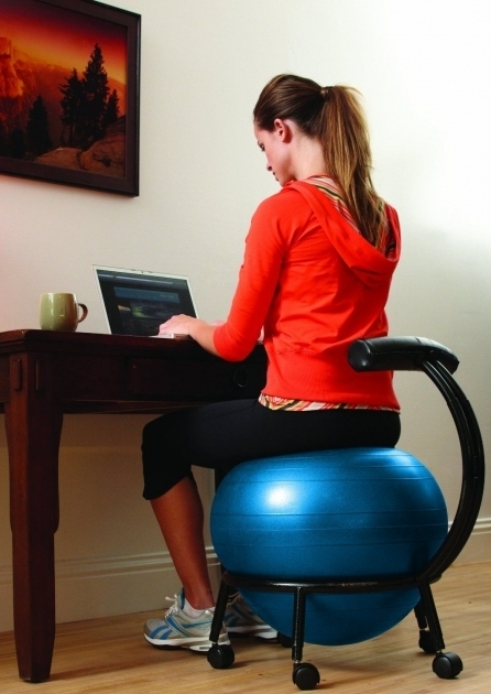 Desk Exercise Ball Office Chair Pics 29