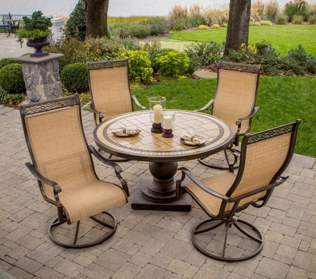 Hanover Monaco 5 Piece Outdoor Dining Set With High Back Swivel Hanover Monaco Swivel Rocker Chair Picture 72