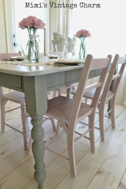 Amazing Chalk Paint Kitchen Table And Chairs Photos