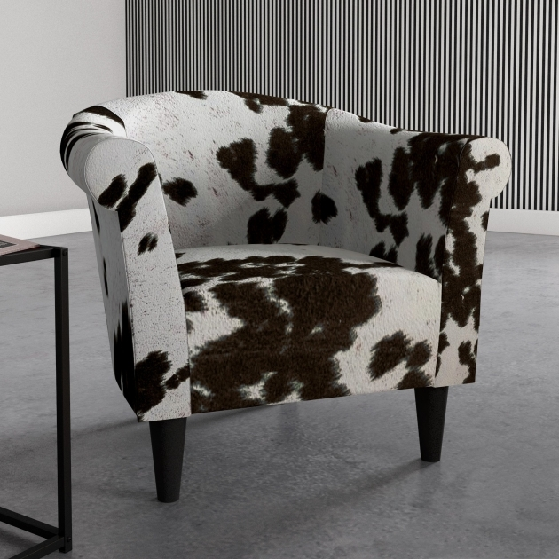 Amazing Cowhide Accent Chair Image