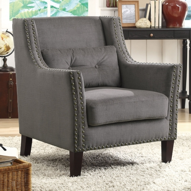 Amazing Grey Accent Chair With Arms Pics