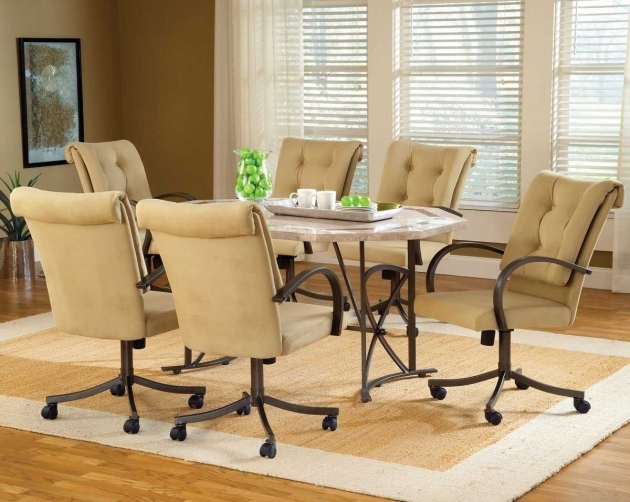 Amazing Kitchen Chairs On Casters Images