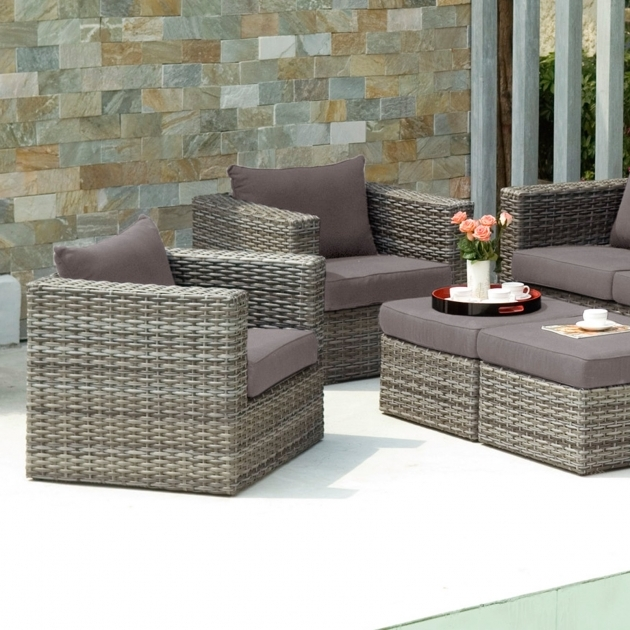 Amazing Patio Chairs With Ottomans Picture
