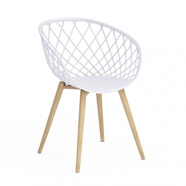 Amazing Wood Leg White Accent Chairs Photos